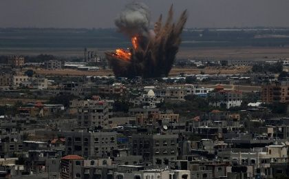 Israeli air strike on Gaza (Reuters)