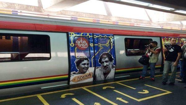 Con Arte en Tren, el Gobierno venezolano acerca la cultura al pueblo. (Foto: @HaimanVZLA)