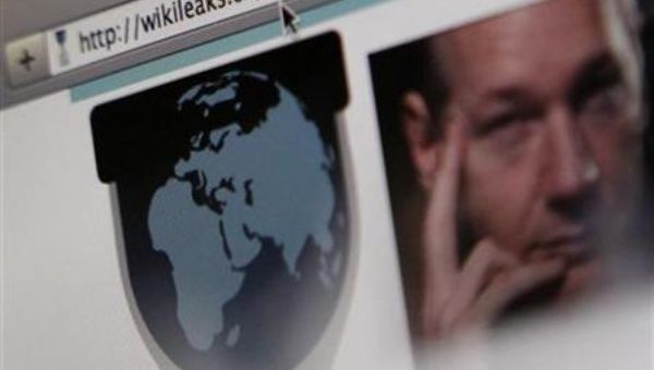 A screen shot of a web browser displaying the WikiLeaks website with a picture of its founder Julian Assange in Bern December 4, 2010. (Reuters)