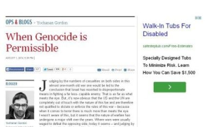 Screenshot of op-ed calling for ''genocide'' (Photo: MoonOfAlabama)