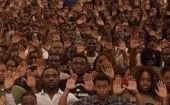 People all over the U.S. puts their hands up in protest of the shooting of Michael Brown in Ferguson. (Photo: Twitter)