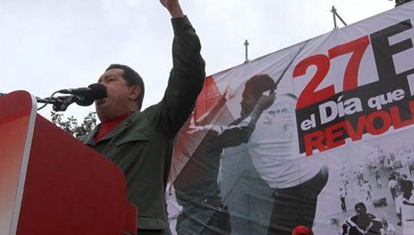 """Hugo Chavez llamó al 27F """"la chispa que encendió el motor de la Revolución Bolivariana"""" (Foto: Archivo)"""