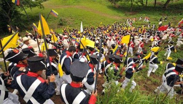 En fotos Venezuela revivi la Batalla de Carabobo este martes