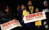 Demonstrators protest against the killing of 19-year-old Renisha McBride outside the Dearborn Heights Police Station in Dearborn Heights, Michigan November 7, 2013. (Photo: Reuters)