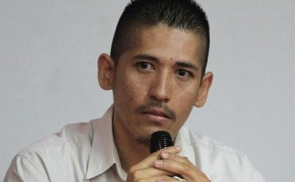 Rogelio Anaya, torture victim, during the presentation of AI report (Photo: EFE)