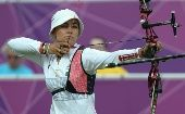 The Mexican archer Aida Roman won the silver medal at London Olympic Games. (Photo: Mexican National Commission for Sports)
