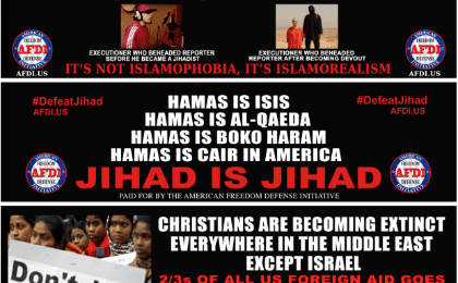Images of the anti-Islam campaign from (Photo: http://freedomdefense.typepad.com)