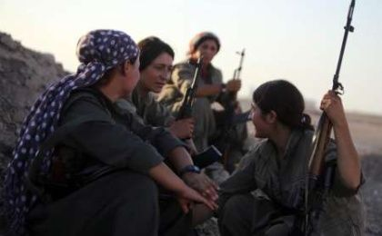 Women in the Kurdistan Worker's Party who are fighting against the Islamic State in Syria. (Photo: AFP)