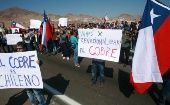 Striking workers picket the Escondida mine, the world
