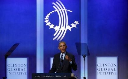 U.S. President Barack Obama speaks at the Clinton Global Initiative 2014 (CGI) in New York, September 23, 2014. (Photo: Reuters)