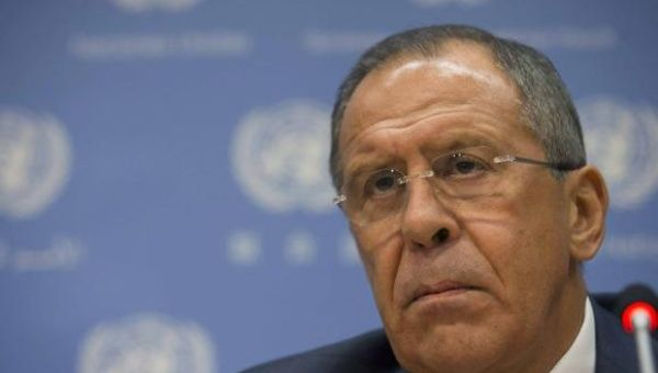Russian Foreign Minister Sergei Lavrov speaks during a news conference on the sidelines of the the 69th U.N. General Assembly at U.N. Headquarters in New York, September 26, 2014. (Photo: Reuters)