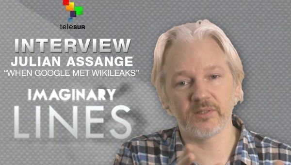 Julian Assange speaks with teleSUR English (Image: teleSUR)