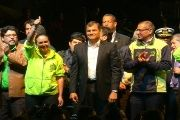 President Correa at the closing ceremony of ELAP and commemoration of September 30 (teleSUR)