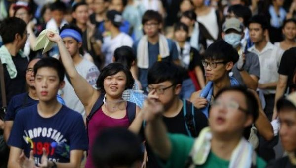 Protesters in Hong Kong (Photo: Reuters)