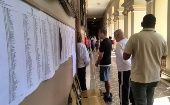Voters wait in line to cast their ballot in Rio de Janeiro (Photo: Stephanie Kennedy)