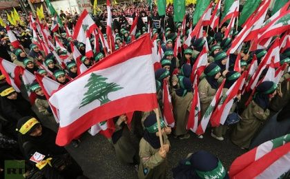 Supporters of Lebanon's Hezbollah group in Beirut. (Photo: AFP)
