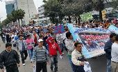 Workers March Towards International Labour Organization (Photo: Rael Mora)