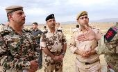 Officials listen during a training session how to search for unexploded ordnance, conducted by a British company in Sulaimaniya October 14, 2014. (Photo: Reuters)