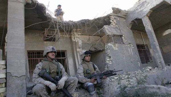 U.S. marines rest amid the rubble of a house in Fallujah in 2004.(Photo: AFP file)