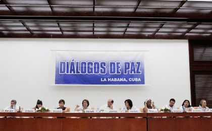 Victims of Colombia's armed conflict attend a peace dialog between FARC and the Colombian government in Havana.  Archive, October 2, 2014.   (Photo: Reuters/Stringer)