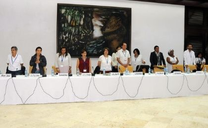 Colombian victim delegation in the Havana peace talks (Photo: EFE).