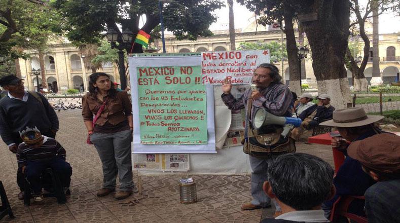 La demanda se extendió hasta Bolivia donde gritan que los regresen vivos