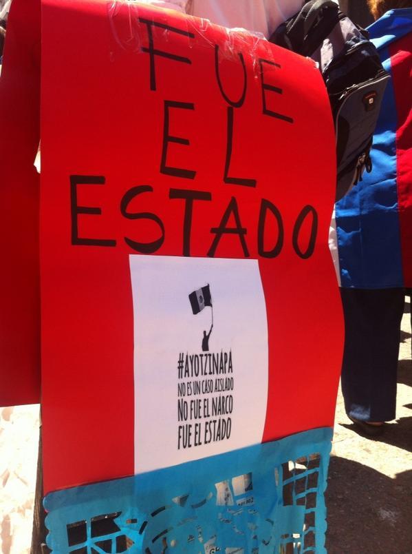 Este sentimiento global se sintió en Uruguay, donde iniciaron su reclamo acusando al Estado mexicano