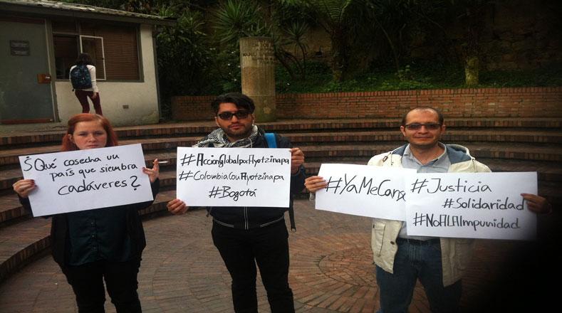 Amigos y vecinos de Bogotá también alzaron su voz por Ayotzinapa