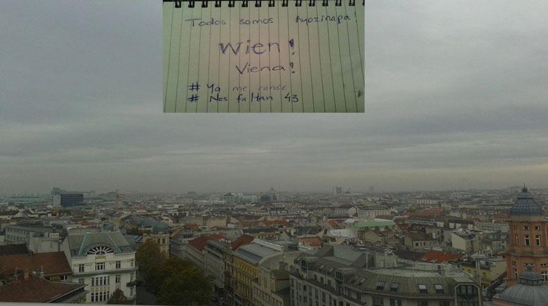 El clamor también se apoderó de Europa, los residentes de Viena se unen a la demanda de los mexicanos por el regreso de los 43 estudiantes
