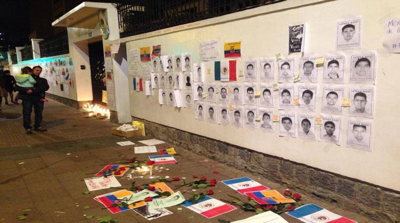 Ecuador mostró solidaridad con México y exigió justicia para los familiares de los 43 estudiantes