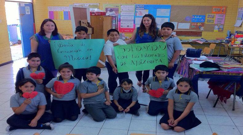 Los niños desde sus escuelas expresaron su rechazó a la corrupción en México