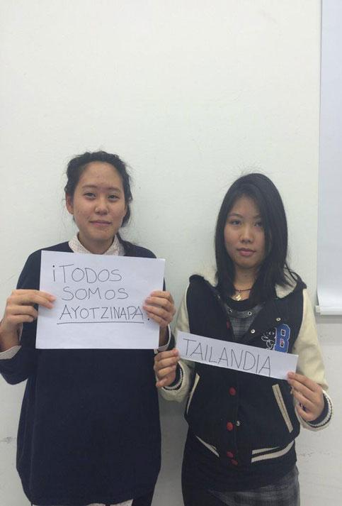 En Tailandia se han solidarizado con Ayotzinapa