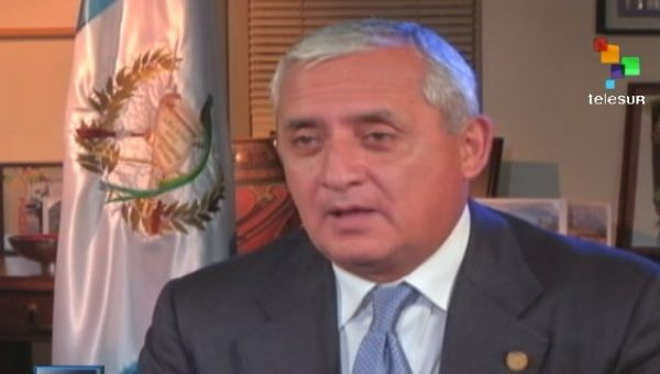 Guatemalan President Otto Perez Molinain an interview with teleSUR. (Photo: teleSUR)