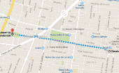 Monument to the Revolution to Zocalo route. (Source: Google Maps)