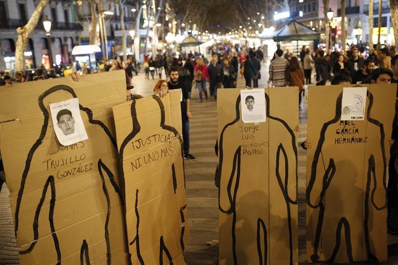 Este 20 de noviembre España también se sumó al clamor mundial por los jóvenes desaparecidos desde el pasado 26 de septiembre.