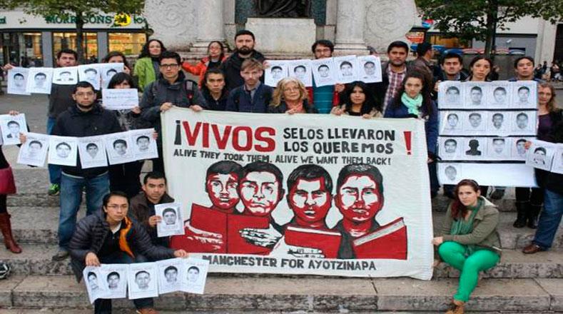 En Reino Unido también están con Ayotzinapa