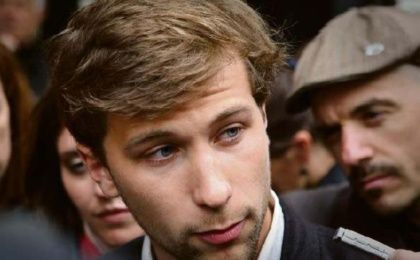 Gabriel Nadeau-Dubois speaking to the press during the 2012 student protests in Quebec. (Photo: AFP)