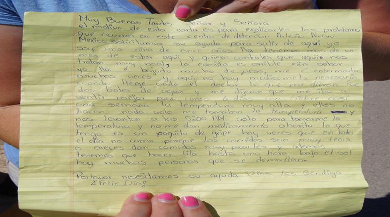 Una niña de once años describe su estadía en el centro de detención de Artesia, Nuevo México.