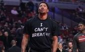 Chicago Bull's Derrick Rose Wears Shirt that Says I Can´'t Breathe to Protest Eric Garner's Shooting Death (Photo: Twitter/ Derrick Rose)