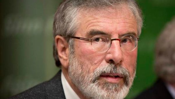 Sinn Fein leader Gerry Adams was recently banned from entering the Gaza Strip.