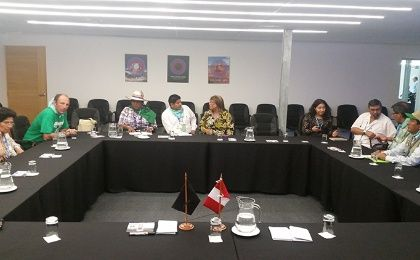 People's Summit delegations at the meeting with COP 20 Officials (Photo: Rael Mora)