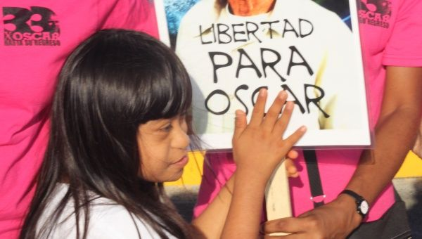 Demonstration demanding the liberation of Oscar Lopez Rivera
