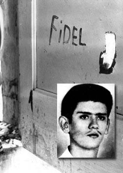 En joven martir Eduardo García, asesinado por los mercenarios en Girón, dejó como un testimonio de lealtad a Cuba y al líder de la Revolución.