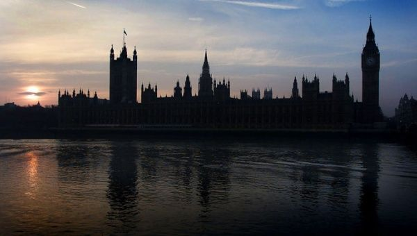 The sun sets over the Houses of Parliament in Westminster, the work place of an alleged pedophile ring in the 1970s and 1980s.