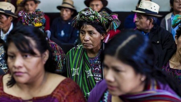 Indigenous people from the Ixil community attend the court proceedings against Rios Montt on Jan. 5, 2015. 1,771 indigenous Maya Ixils were killed during his rule.