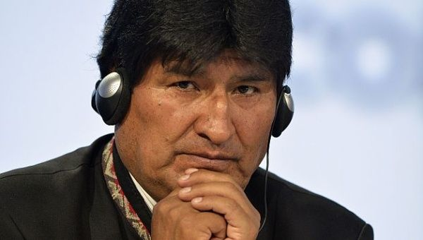 President Evo Morales. Tensions between Bolivia and Chile has existed for decades over access to the Pacific Coast.