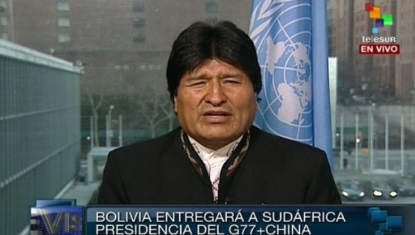 Bolivian President Evo Morales spoke with teleSUR exclusively on Jan. 8, 2014