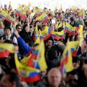 Ecuadoreans in New York City greet President Rafael Correa