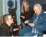 Fidel Castro, his wife, and Garcia in his house, on Friday 23, January.