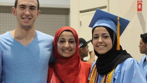The three American Muslim students were shot dead near the University of North Carolina.